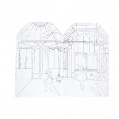 """Spalvinimo knygelė """"Paryžietės"""" su lipdukais 2"""