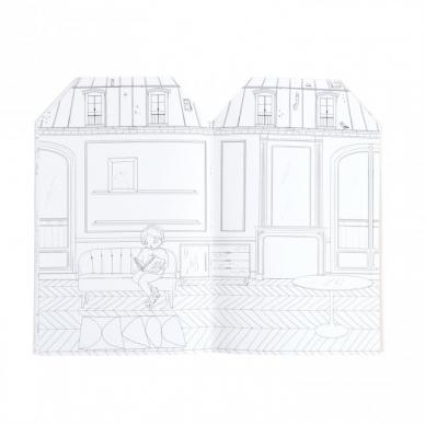 """Spalvinimo knygelė """"Paryžietės"""" su lipdukais 3"""