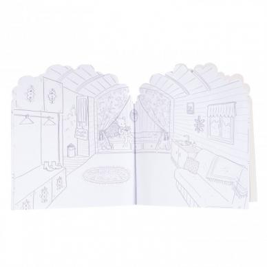 """Spalvinimo knygelė """"Mano namas"""" su lipdukais 3"""