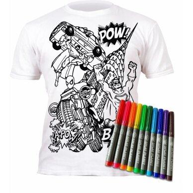 Splat Planet marškinėliai su flomasteriais Super herojai