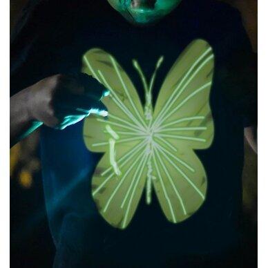 Splat Planet šviečiantys tamsoje marškinėliai, Drugelis 2