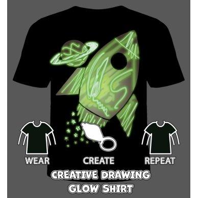 Splat Planet šviečiantys tamsoje marškinėliai, Kosmose 2
