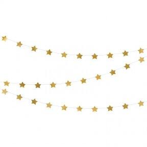 """Girlianda """"Auksinės žvaigždės"""" 3,6m"""