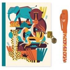 """Užrašų knygelė su magišku rašikliu """"Safaris"""""""