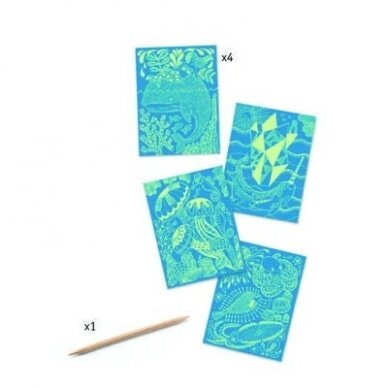 """Nutrinamų kortelių rinkinys """"Jūra"""" 2"""
