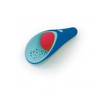 """Žaislas """"Cuppi"""" - kastuvėlis, sietelis ir kamuoliukas (mėlynas)"""