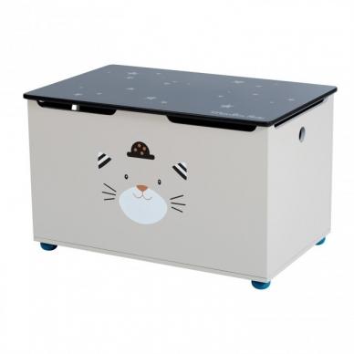 """Medinė žaislų dėžė """"Draugiškas katinas"""""""