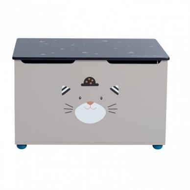 """Medinė žaislų dėžė """"Draugiškas katinas"""" 3"""