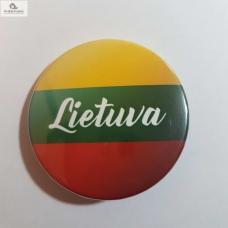 """Ženkliukas su užrašu """"Lietuva"""", 25mm"""